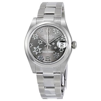 Купить часы Rolex Datejust Lady 31 Floral Rhodium Dial Stainless Steel Oyster Bracelet Automatic Watch  в ломбарде швейцарских часов