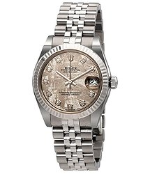 Rolex Datejust Lady 31 Meteorite With Diamonds Dial Stainless Steel Jubilee Bracelet Automatic Watch