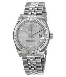 Rolex Datejust Lady 31 Mother-of-pearl With Diamonds Dial Stainless Steel Jubilee Bracelet Automatic Watch