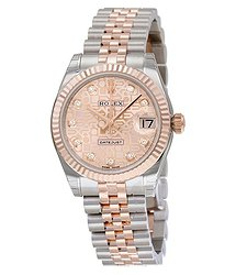 Rolex Datejust Lady 31 Pink Dial Stainless Steel and 18K Everose Gold Jubilee Bracelet Automatic Watch 178271PJDJ