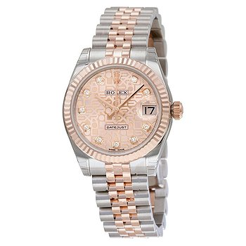 Купить часы Rolex Datejust Lady 31 Pink Dial Stainless Steel and 18K Everose Gold Jubilee Bracelet Automatic Watch 178271PJDJ  в ломбарде швейцарских часов