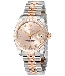 Rolex Datejust Lady 31 Pink Dial Stainless Steel and 18K Everose Gold Jubilee Bracelet Automatic Watch