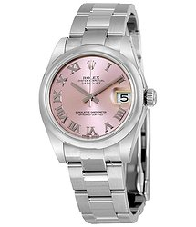 Rolex Datejust Lady 31 Pink Dial Stainless Steel Oyster Bracelet Automatic Watch