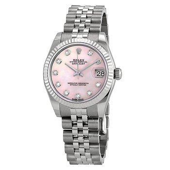 Купить часы Rolex Datejust Lady 31 Pink Mother-of-pearl with Diamonds Dial Stainless Steel Jubilee Bracelet Automatic Watch  в ломбарде швейцарских часов