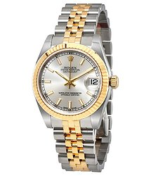 Rolex Datejust Lady 31 Silver Dial Stainless Steel and 18K Yellow Gold Jubilee Bracelet Automatic Watch