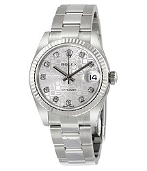 Rolex Datejust Lady 31 Silver Dial Stainless Steel Oyster Bracelet Automatic Watch