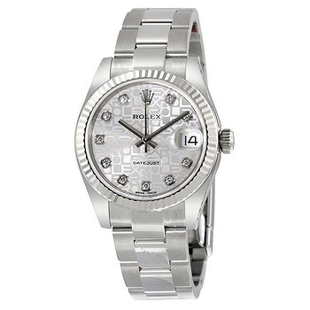 Купить часы Rolex Datejust Lady 31 Silver Dial Stainless Steel Oyster Bracelet Automatic Watch  в ломбарде швейцарских часов