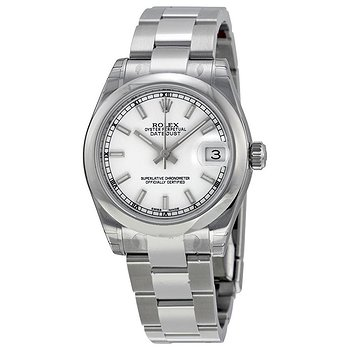 Купить часы Rolex Datejust Lady 31 White Dial Stainless Steel Oyster Bracelet Automatic Watch  в ломбарде швейцарских часов