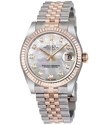 Rolex Datejust Lady 31 White Mother of Pearl Dial Stainless Steel and 18K Everose Gold Jubilee Bracelet Automatic Watch