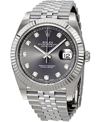 Rolex Datejust Rhodium Diamond Dial Automatic Men's Watch