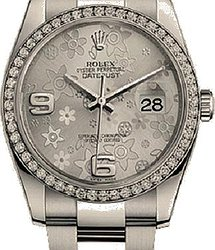 Rolex Datejust Silver Floral