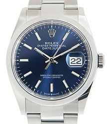 Rolex Datejust Stainless Steel Blue Automatic 126200BL_O