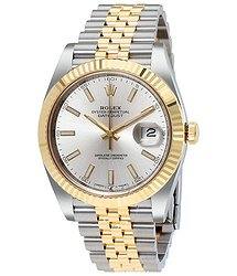 Rolex Datejust41 Silver Dial Steel and 18K Yellow Gold Jubilee Men's Watch