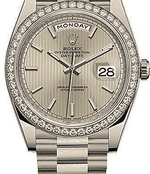 Rolex Day-Date 40 mm, white gold and diamonds