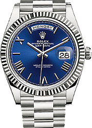 Rolex Day-Date 40mm White Gold 228239-blue
