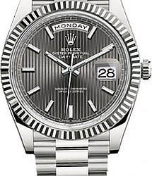 Rolex Day-Date 40mm White Gold 228239-grey