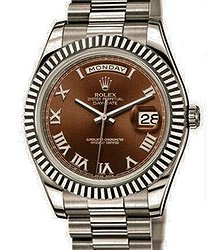 Rolex Day-Date II 41mm White Gold 218239 Chocolate