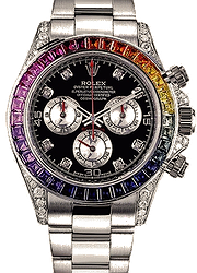Rolex Daytona 40 mm Rainbow White Gold Diamonds Aftermarket