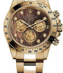 Rolex Daytona Cosmograph 40mm YellowGold Crystals Diamonds