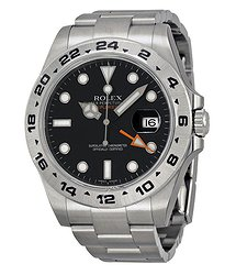 Rolex Explorer II Black Dial Stainless Steel Oyster Bracelet Automatic Men's Watch