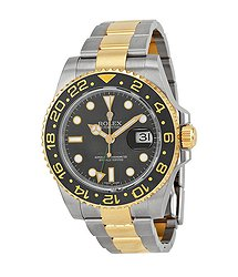 Rolex GMT-Master II Black Dial Stainless Steel and 18kt Yellow Gold Oyster Bracelet Automatic Men's Watch 116713BKSO
