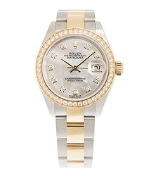 Rolex Lady Datejust 18kt Gold & Diamond & Steel White Automatic 279383rbr- NGWT_O