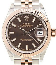 Rolex Lady Datejust 18kt Rose Gold & Steel Brown Automatic 279171BR_J
