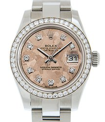 Rolex Lady Datejust 18kt White Gold & Diamond & Steel Pink Automatic 179384GPKCRYSTAL_O