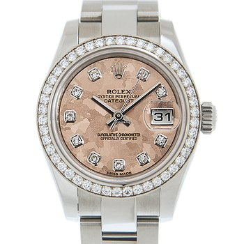 Купить часы Rolex Lady Datejust 18kt White Gold & Diamond & Steel Pink Automatic 179384GPKCRYSTAL_O  в ломбарде швейцарских часов
