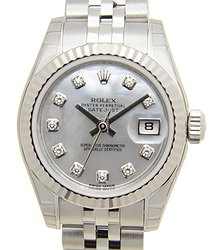 Rolex Lady Datejust 18kt White Gold & Steel Silver Automatic 179174NGWT