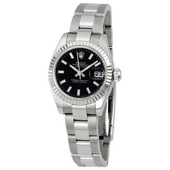 Купить часы Rolex Lady Datejust 26 Black Dial Stainless steel Oyster Bracelet Automatic Watch 179174BKSO  в ломбарде швейцарских часов