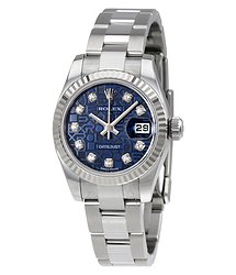 Rolex Lady Datejust 26 Blue Dial Stainless Steel Oyster Bracelet Automatic Watch