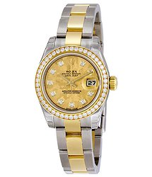 Rolex Lady Datejust 26 Yellow Gold Dial Stainless Steel and 18K Yellow Gold Oyster Bracelet Automatic Watch