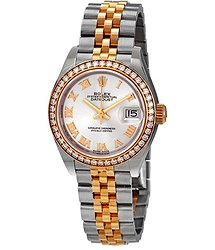 Rolex Lady-Datejust 28 Silver Dial Automatic Ladies Steel and 18kt Yellow Gold Jubilee Watch
