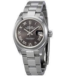 Rolex Lady Datejust Automatic Grey Dial Ladies Oyster Watch