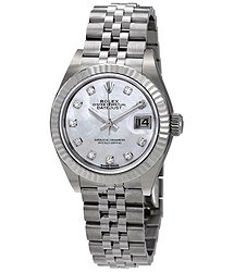 Rolex Lady Datejust Automatic Mother of Pearl Diamond Dial Ladies Jubilee Watch