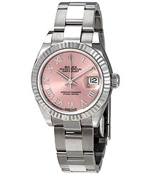 Rolex Lady Datejust Automatic Pink Dial Ladies Oyster Watch
