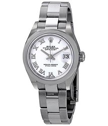 Rolex Lady Datejust Automatic White Dial Ladies Oyster Watch