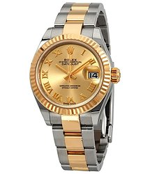 Rolex Lady Datejust Champagne Dial Ladies Steel and 18kt Yellow Gold Oyster Watch