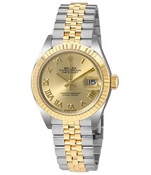 Rolex Lady Datejust Champagne Dial Steel and 18K Yellow Gold Ladies Watch