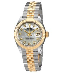 Rolex Lady Datejust Mother of Pearl Diamond Steel and 18K Yellow Gold Jubilee Watch
