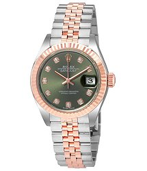 Rolex Lady Datejust Olive Dial Steel and 18K Everose Gold Ladies Watch ODJ