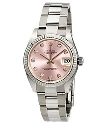 Rolex Lady Datejust Pink Diamond Dial Automatic Watch