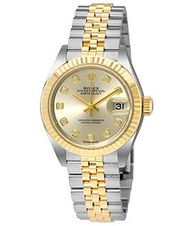 Rolex Lady Datejust Silver Dial Steel and 18K Yellow Gold Ladies Watch 279173