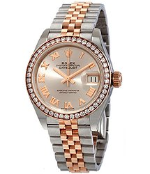 Rolex Lady Datejust Sundust Dial Automatic Ladies Steel and 18K Everose Gold Jubilee Watch