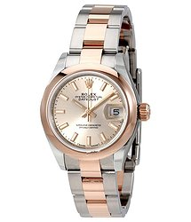 Rolex Lady Datejust Sundust Dial Steel and 18K Everose Gold Ladies Watch