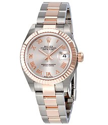Rolex Lady Datejust Sundust Dial Steel and 18K Everose Gold Oyster Watch