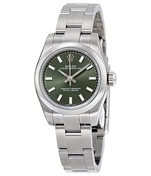 Rolex Lady Oyster Perpetual 26 Olive Green Dial Stainless Steel Oyster Bracelet Automatic Watch