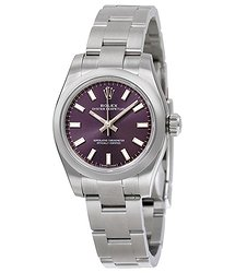 Rolex Lady Oyster Perpetual 26 Purple Dial Stainless Steel Oyster Bracelet Automatic Watch 176200PUSO