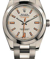 Rolex Milgauss 40mm Steel White